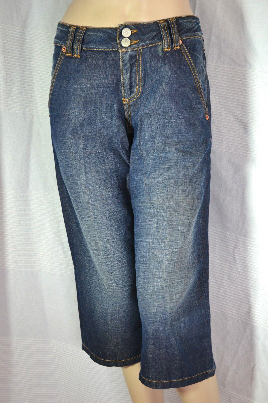 MAX MARA Damen Hose CAPRI DAMENJEANS 3 4 Jeans trousers blau XS 34 36 NEU