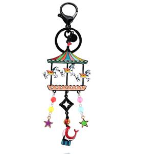 Lol-Bijoux-Porte-Cles-Manege-Chevaux-Multicolore