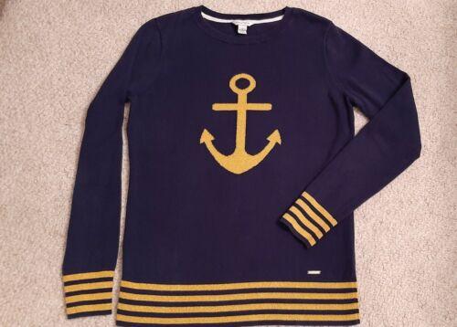 Nautica Navy Nautical Anchor Sweater