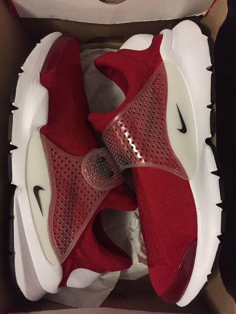 Nueva 130 Nike Sock Dart MSRP 130 Nueva gimnasio Rojo / blanco 537f5f