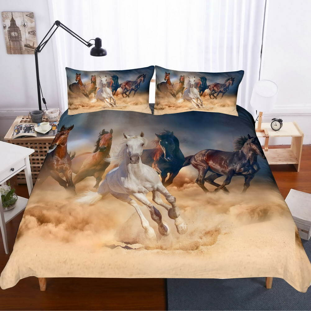 Sand Filled Sky 3D Quilt Duvet Doona Cover Set Single Double Queen King Print