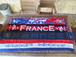 Lot 4 Echarpe EQUIPE de FRANCE football FFF Nike vintage supporter ... ebeba25fef3