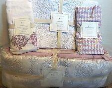 Pottery Barn Kids Cassandra crib BUMPER skirt SHEET toddler quilt NEW baby ikat