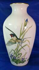 BIG Meadowland Bird Vase Franklin Porcelain Barn Swallow Violet LE by Basil Ede