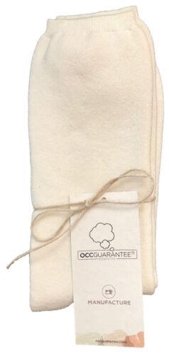 100/% Naturel Pure Organique Certifié Coton Long Chaussettes 37//39 Homme Femme 4//6