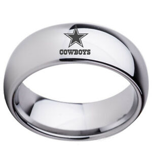 Dallas-Cowboys-Football-Team-Stainless-Steel-Rings-Men-Women-Size-6-13-Silver