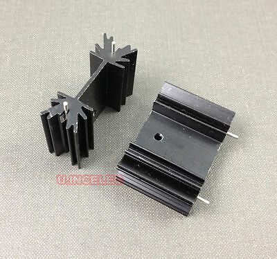 50pcs Heatsinks TO-220 Heat Sinks for Power MOSFET 35X25X12MM