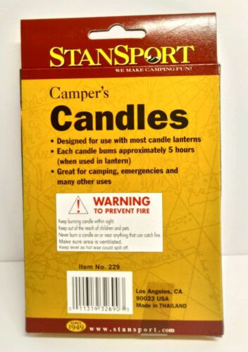 Suitable For Emergency Use 5pk W Stansport Camping Candles