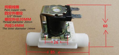 "1//2/"" N//C AC220V Magnetic N//C Electric Solenoid Valve Water Air Inlet Flow Switch"