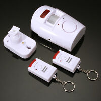 Motion Sensor Detector Alarm Wireless IR Infrared Remote Theft Security System