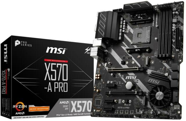 MSI X570-A PRO Motherboard AMD Socket AM4 AMD X570 Chipset 1 x HDMI Port
