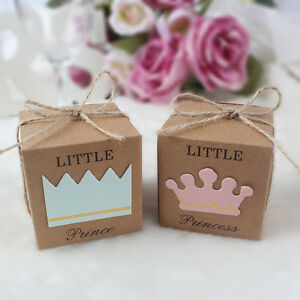 10-xlittle-princesse-prince-Sweet-Candy-Box-Boy-Girl-Baby-Shower-Fete-D-039-Anniversaire