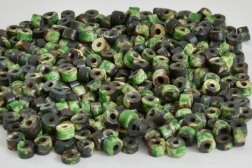180 PCS DYED GREEN ROUND BUFFALO BONE BEADING BEADS 5MM #T-1685