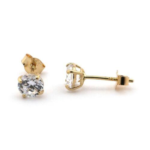 14k or Jaune Labo Diamant Boucle d/'oreille à Clous pour repousser .45 ct