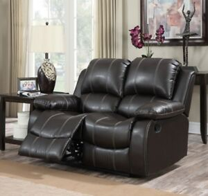 Fantastic Details About Home Theatre Loveseat Reclining Leather Sofa Couch Level Seats Snuggle Comfy New Unemploymentrelief Wooden Chair Designs For Living Room Unemploymentrelieforg