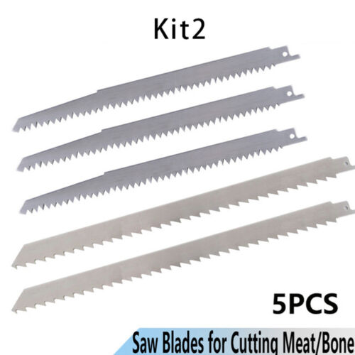 5pieces Stainless Steel Reciprocating Saw Blade For Cutting Frozen Meat Bone