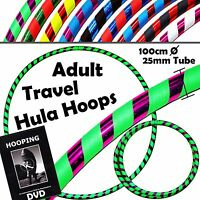 Hula Hoops (ultra-grip/glitterdeco) Weighted Travel Hoola Hoop (100cm/39')+ Dvd