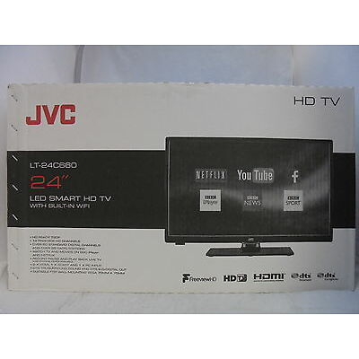 """JVC LT-24C660 24"""" LED Smart TV with Built-in WiFi Freeview HD Ready 720p Black"""