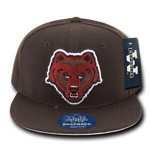 68d900ca Details about Brown University Bears NCAA Flat Bill Snapback Baseball Ball  Cap Caps Hat Hats