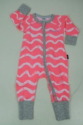 Bonds Baby Long Sleeve Zip Wondersuit Romper sizes 000 0 1 2 Colour Steel White