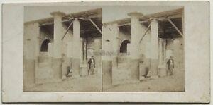 Casa Pompei Di Meleagro Italia Foto Stereo Vintage Albumina c1860