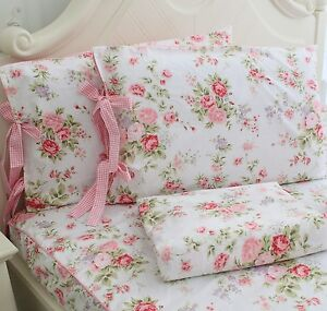 Exceptionnel Image Is Loading FADFAY Cotton Bed Sheet Set Rose Floral Bed