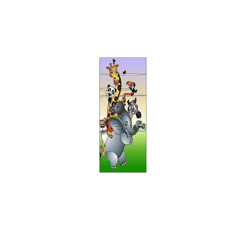 Adesivo bambino porta Animali jungle ref 1723