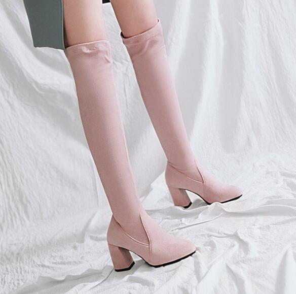 les femmes élégantes orteil talons chunky sexy plus longues b ott ott b es d e ch aussures. 023096