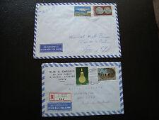 GRECE - 2 enveloppes 1980 1989 (cy79) greece