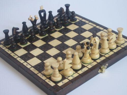 Noble Large Chess Juego de ajedrez Torneo Intarsia Wood NUEVO Original Luxury
