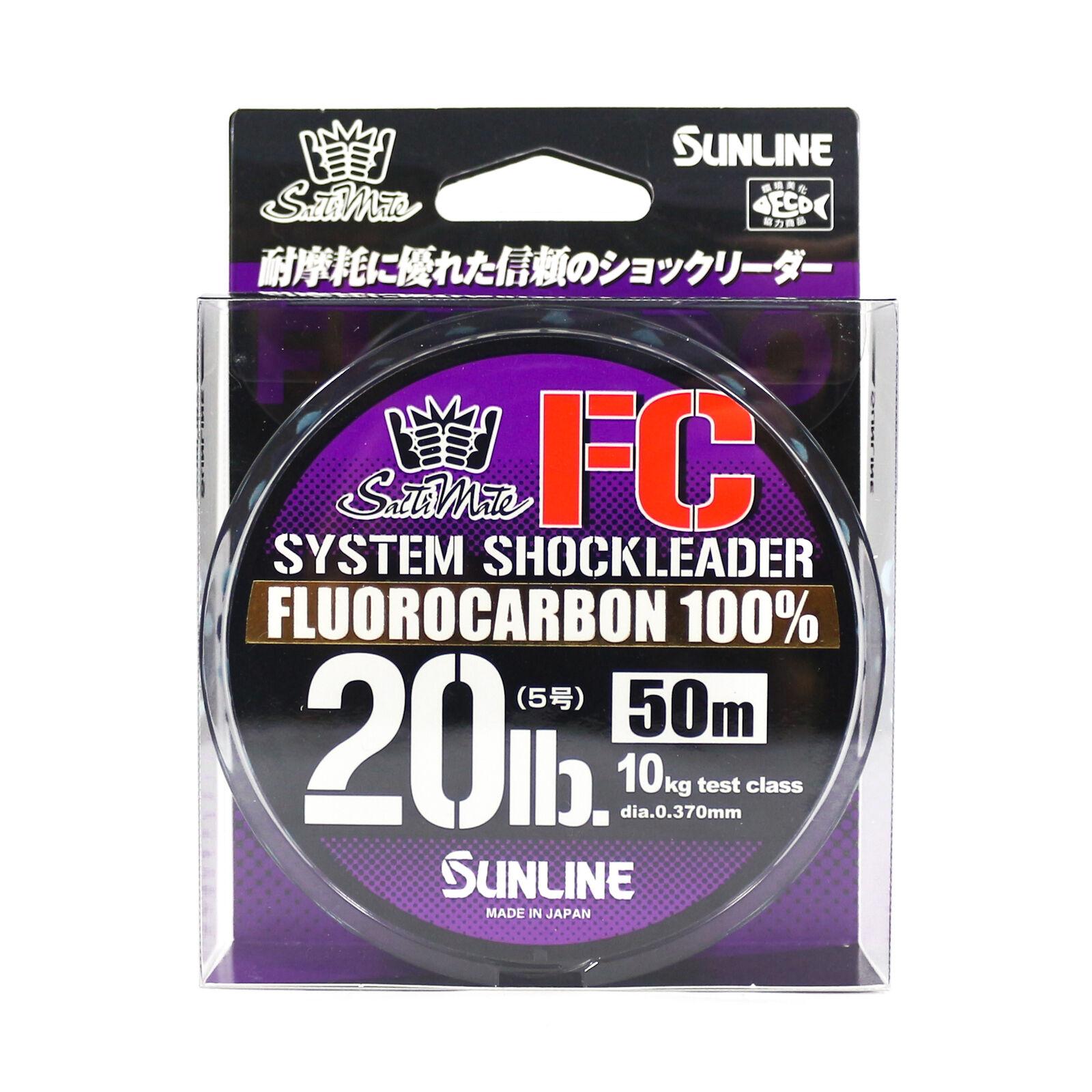 9161 Sunline Saltwater System Shock Leader Fluorocarbon FC 50m 20lb
