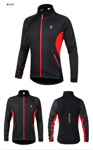 Thermal Cycling Jacket Winter MTB Bike Coat Long Sleeve Jersey Windproof Tops