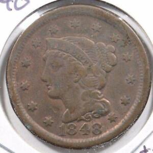 1848-Braided-Hair-Cent-Fine-Condition