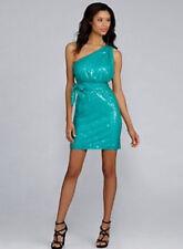 new $179 Calvin Klein all over sequin capri one shoulder party dress 10 L