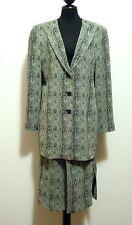 KRIZIA VINTAGE '80 Giacca Tailleur Full Dress Rayon Jacket Women Sz.L - 46
