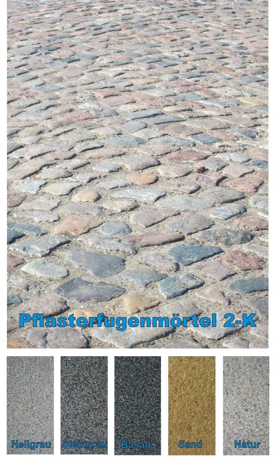 2 K Drän-Fugenmörtel unkrautfrei Natursteinpflaster f. PKW 26,5 kg (  1kg)