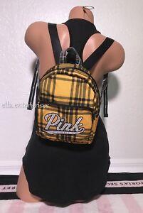 Victoria s Secret Pink Yellow Black Plaid Silver Rhinestone Bling ... 0f1a76fa554ae