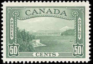 Mint H Canada 1938 F-VF Scott #244 50c Pictorial Issue Stamp