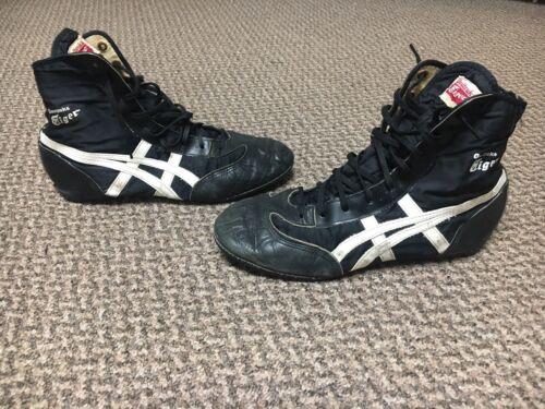 Black Asic Onitsuka Tiger Wrestling Shoes. Size 9.