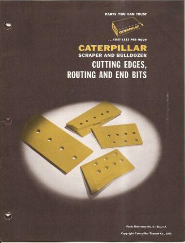 Equipment Brochure - Caterpillar - CAT - Cutting Edges Scraper Dozer 1960 (E1470