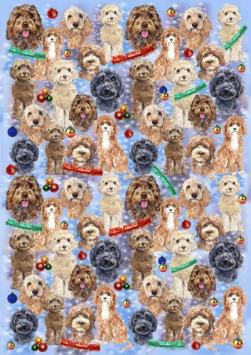 Cockapoo Dog Christmas Gift Wrapping Paper by Starprint