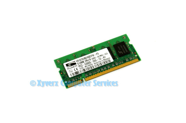 V916764B24QCFW-F5 PROMOS DDR-2 512MB PC2-5300 LAPTOP MEMORY(CA69)