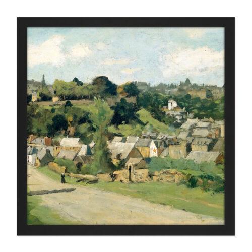 Vista de la aldea de país poggenbeek Dinant Pintura Arte Enmarcado mountless 16X16 en