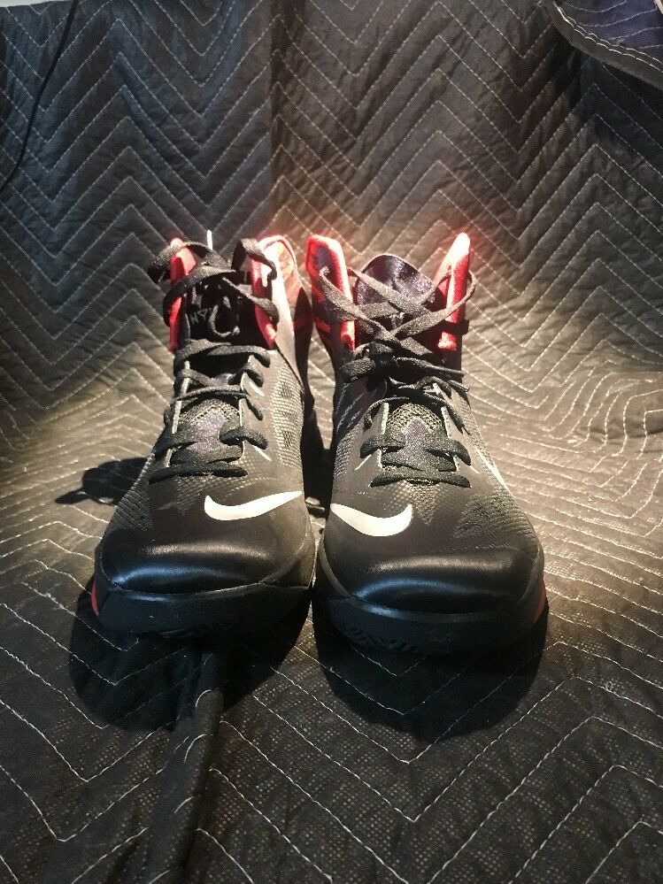 Men's Nike Zoom Hyperfuse 615896-001 Size Black & Red Shoes Size 615896-001 11.5 (CON4) 642fc4