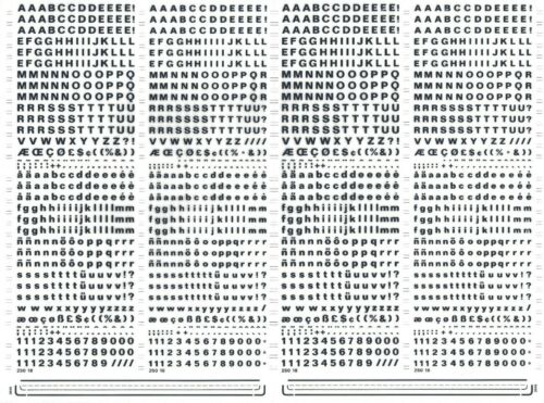 Letraset #516 FOLIO CARAVELLE BOLD 4mm MECANORMA Dry Transfer Lettering Sheet