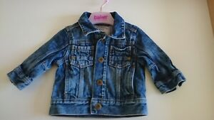 Symbol Of The Brand Baby Girl Next Denim Jacket 3-6 Months Warm And Windproof Clothes, Shoes & Accessories