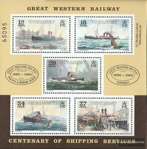 GB-Guernsey-Block5-kompl-Ausg-gestempelt-1989-Schifffahrt