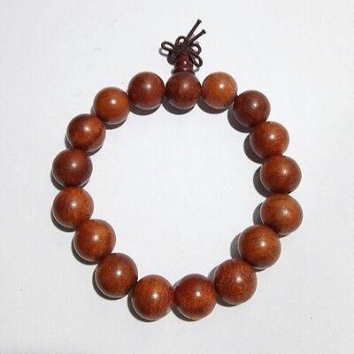 23-25mm Rose Wood Carving 4-sides Buddha Beads Tibetan Buddhism Amulet Bracelet