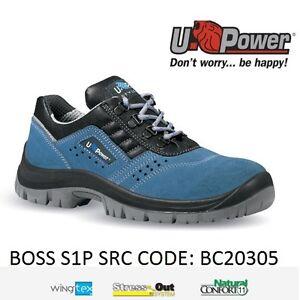 Upower-Scarpa-Antinfortunistica-Bassa-SRC-S1P-Pelle-scamosciata-BOSS-U-POWER