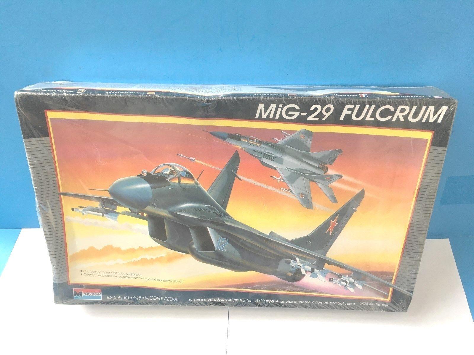 Monogram 1 48 MiG-29 Fulcrum Plastic Aircraft Model Kit U1    SEALED